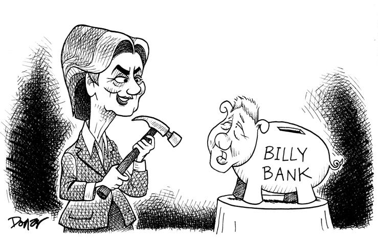 Hillary Clinton breaks the Billy Bank