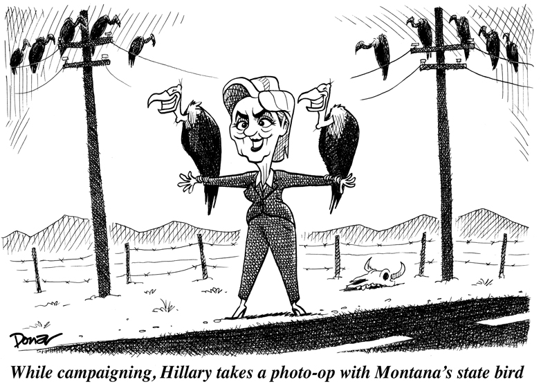 Hillary Clinton campaigns one last time in Montana