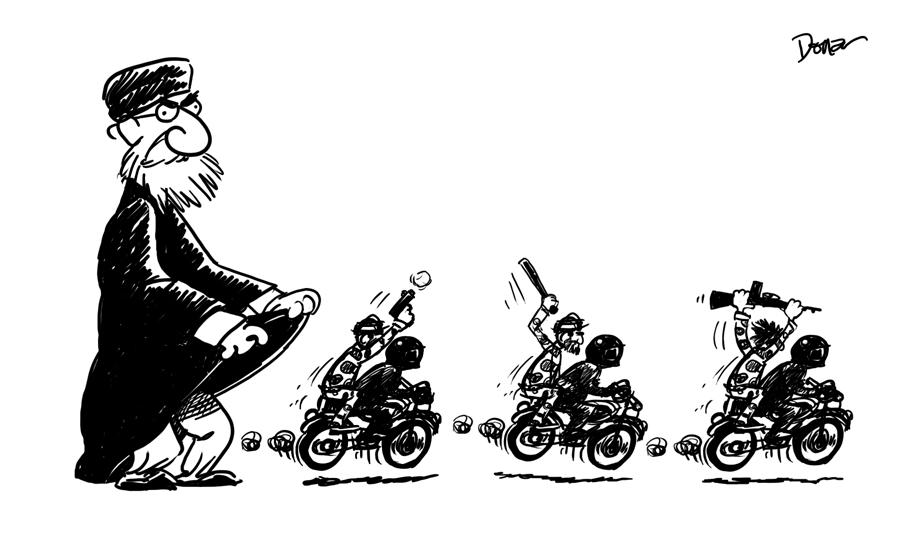 basij iran cartoon