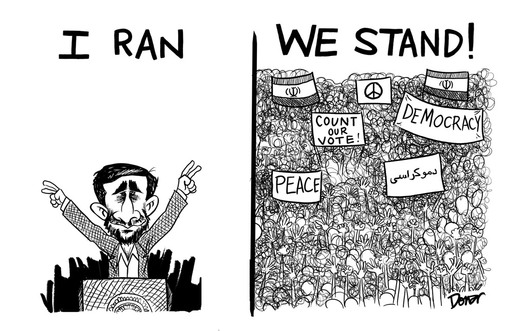 iran protest cartoon