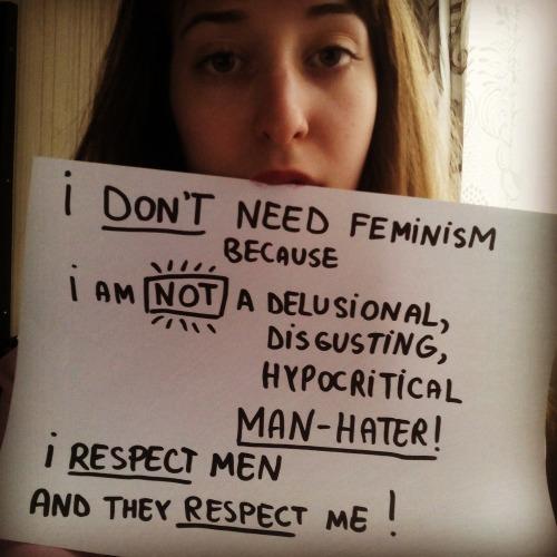 Nu feminismului