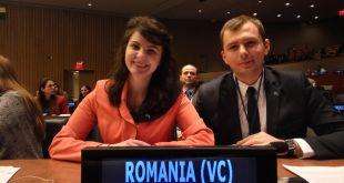 Denisa Bratu și Gabriel Uifălean - delegații de Tineret ai României la Organizația Națiunilor Unite