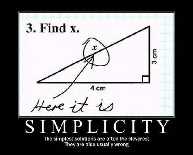 simplicity-find-x-not-always-right