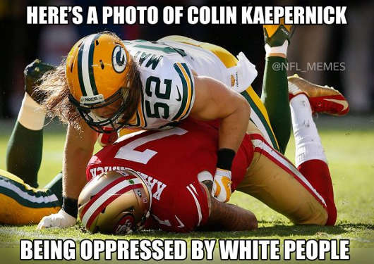 photo-of-colin-kaepernick-being-oppressed-by-white-people
