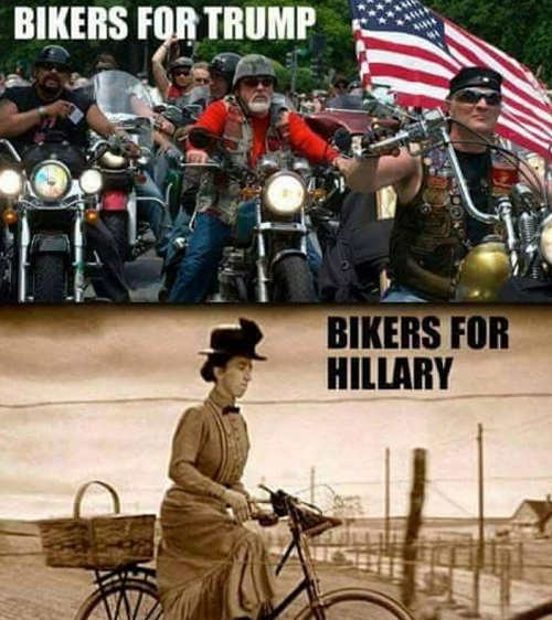 bikers-for-trump-versus-hillary-witch-biker