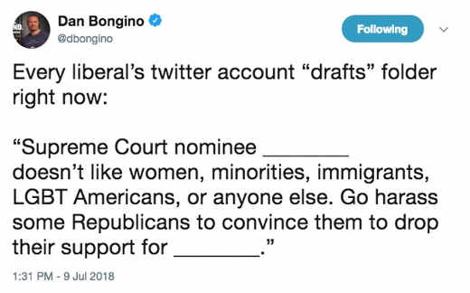 every-liberals-twitter drafts folder on upcoming supreme court justice borgino tweet
