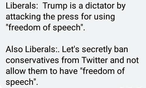 liberals-trump-attacking-press-freedom-of-speech-ban-conservatives-social-media