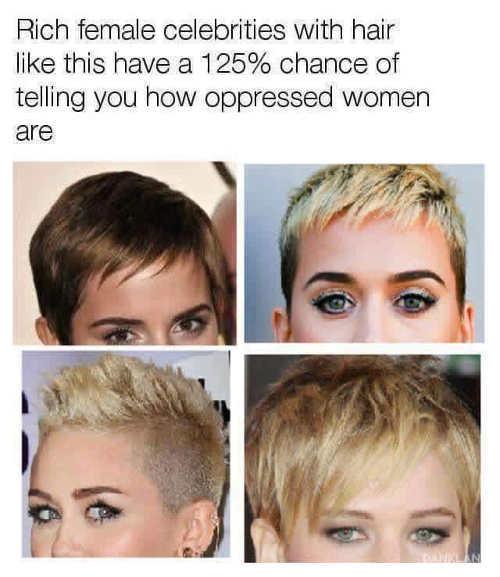 rich-female-celebrities-short-hair-always-oppressed-women