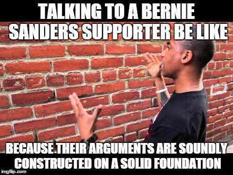 talking-to-bernie-sanders-supporter-brick-wall