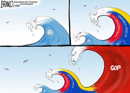 venezuela-wing-democrat-party-gop-blue-wave
