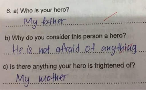 who-is-hero-father-afraid-of-mother-kid-test