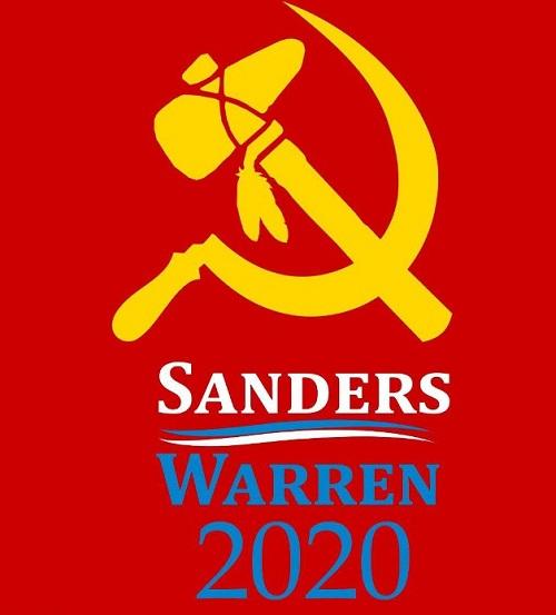 bernie-sanders-elizabeth-warren-hammer-sickle-tomahawk-2020