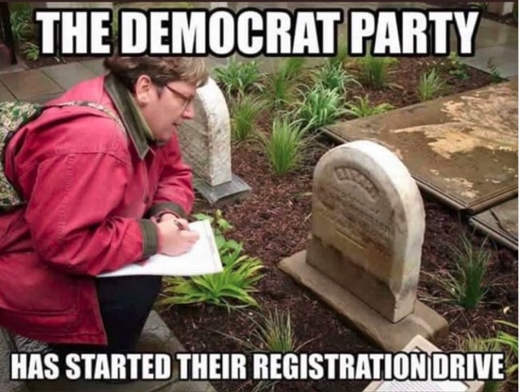 democratic-party-started-their-registration-drive-cemetary