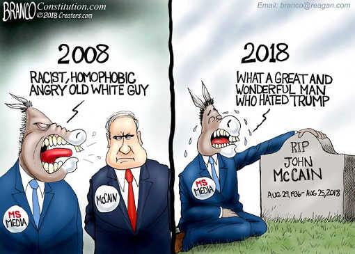2008-mccain-racist-homophobic-angry-white-guy-2018-trump-hater-saint
