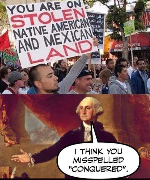 george-washington-stolen-mexican-land-mispelled-conquered