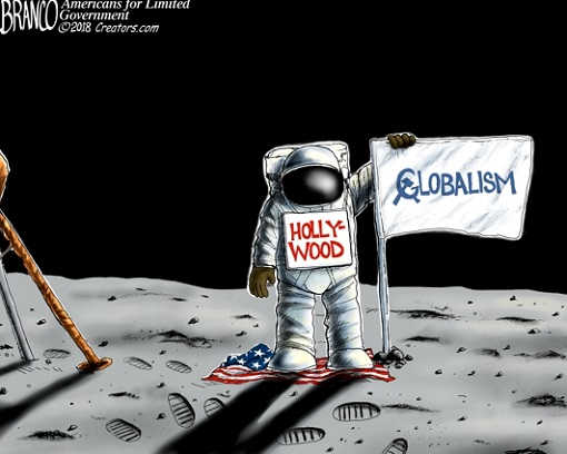 hollywood-land-on-moon-no-us-flag-communist-globalism