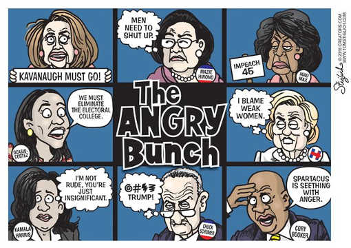 angry-bunch-booker-schumer-waters-cortez-pelosi-hillary-clinton