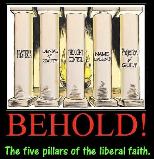 behold-5-pillars-of-liberal-faith-hysteria-denial-thought-control-name-calling-projection-of-guilt