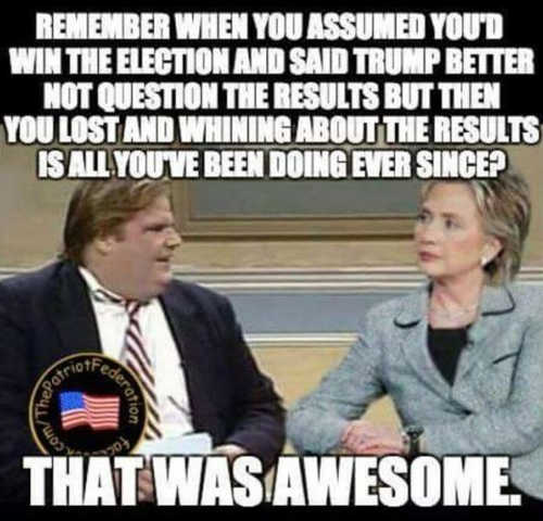 chris-farley-hillary-clinton-remember-when-trump-better-not-question-election-but-you-lost-been-whining-ever-since