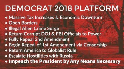 democrat-2018-platform-tax-increases-open-borders-illegal-immigration-repeal-2nd-amendment
