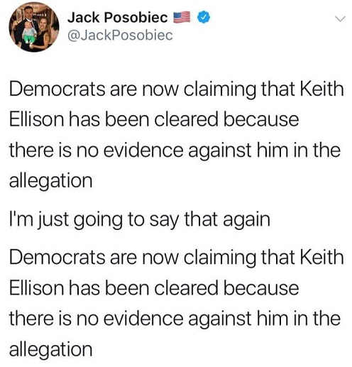 democrats-are-now-claims-keith-ellison-cleared-because-no-evidence-against-him-tweet