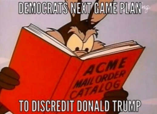 democrats-next-game-plan-to-discredit-donald-trump-wile-e-coyote-acme-book