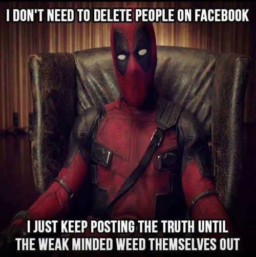 i-dont-need-to-delete-people-on-facebook-just-keep-posting-truth-until-weak-minded-weed-themselves-out