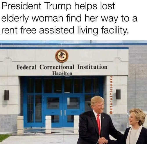 president-trump-helps-elderly-hillary-clinton-to-assisted-living-jail