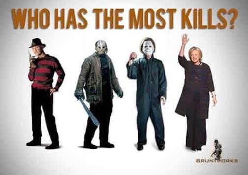 who-has-most-kills-hillary-clinton-jason-michael-myers-freddy-krueger