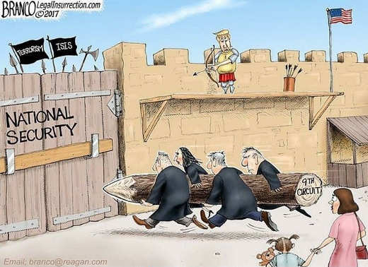 9th circuit court breaking down national security wall