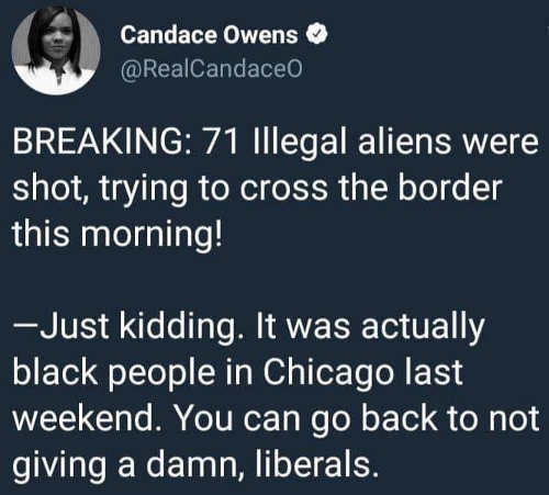 candace-owens-71-illegal-aliens-show-crossing-border-just-kidding-it-was-chicago-liberals-go-back-to-not-giving-damn