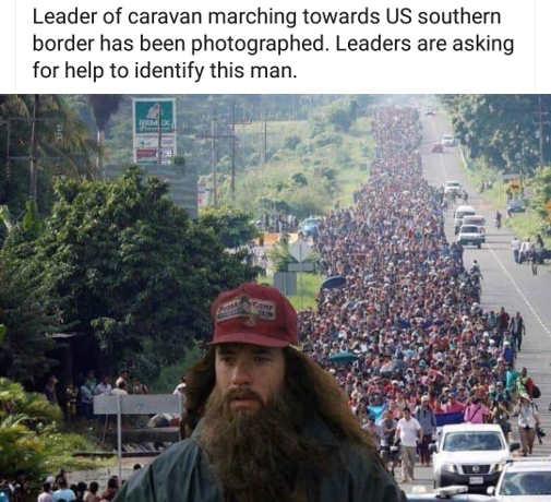 forrest gump leading mexican caravan