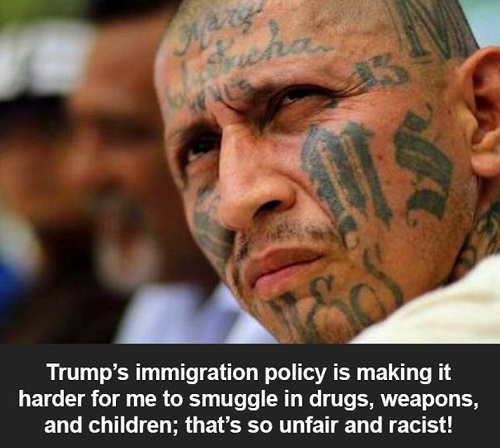 trump-immigration-policy-making-harder-to-smuggle-drugs-women-ms-13-that-is-racist