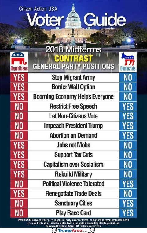 voter-guide-midterms-immigration-jobs-military-tax-cuts-mobs-republican-democrat-comparison
