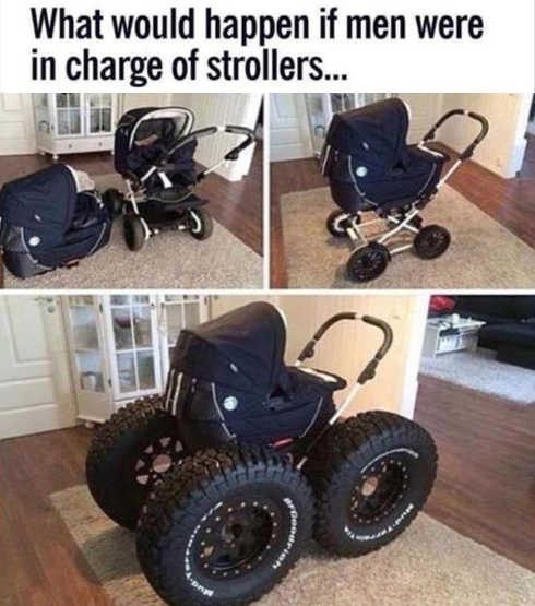 what-would-happen-if-men-in-charge-of-baby-strollers