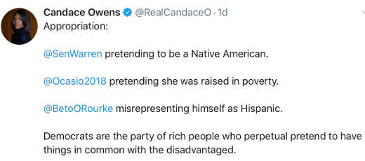candace owen tweet democrats want people dependent on government but not able to get out of poverty