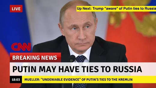 cnn breaking news putin may have have ties to russia trump aware mueller