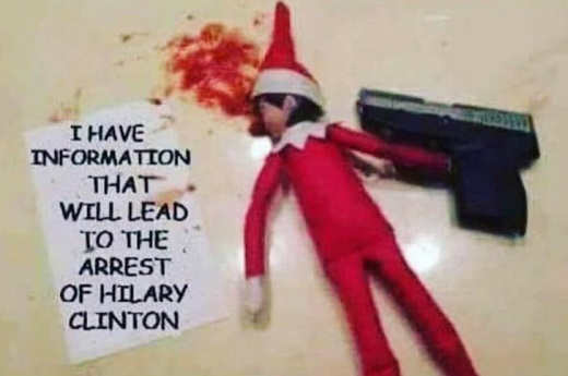 elf on shelf i have information that will lead to arrest of hillary clinton gun suicide