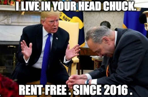 i live in your head chuck rent free since 2016 trump schumer