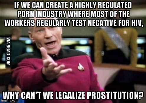 if we can create highly regulated porn industry why cant we legalize prostitution