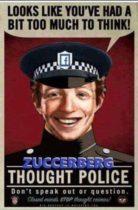 mark zuckerberg looks like youve had too much time to think thought control nazi