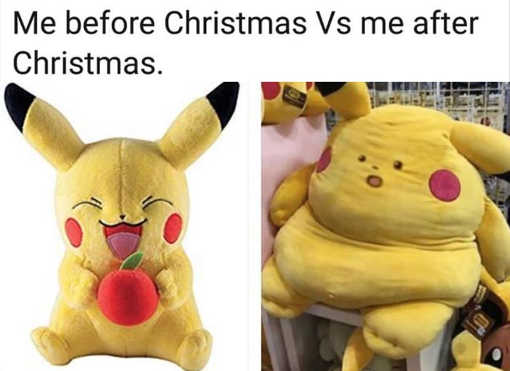 me before christmas vs me after