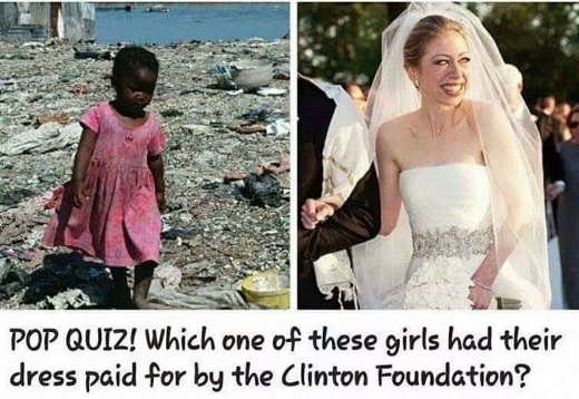 pop quiz which wedding did clinton foundation pay for chelsea haitian girl