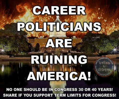 career politicians ruining america no one should be in congress 30 or 40 years