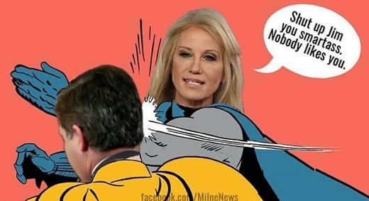 conway batman slap of jim acosta youre an ass no one likes you