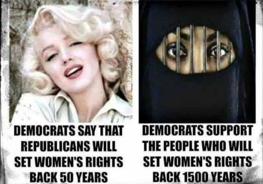 democrats say republicans set womens rights back but support muslims setting back thousands of years
