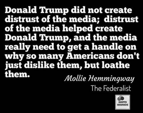 donald trump did not create distrust of media it helped create him media must figure out who americans loathe them