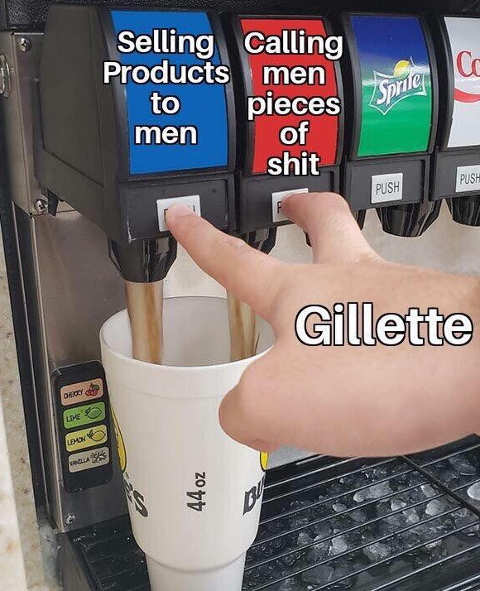 gillette selling products to men calling men pieces of shit