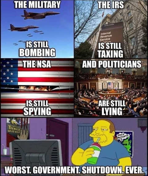 irs still taxing military bombing nsa spying worst government shutdown every