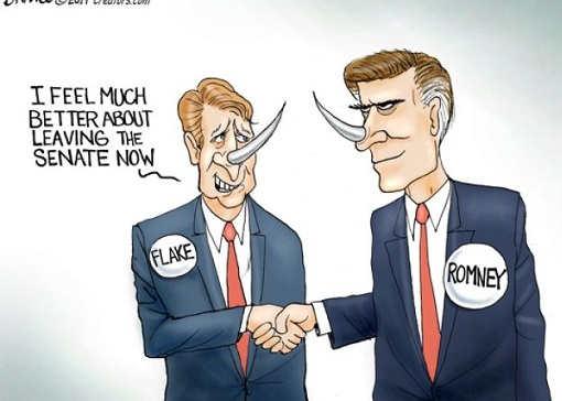 jeff flake i feel much better leaving senate not mitt romney